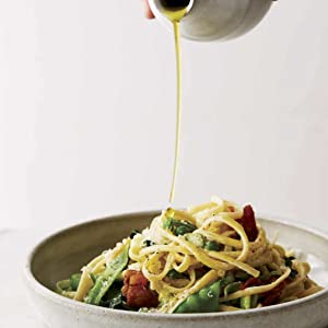 Linguine with Asparagus and Peas, pasta, fresh, vegetable, spring