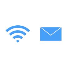 Wi-Fi, メール設定配布