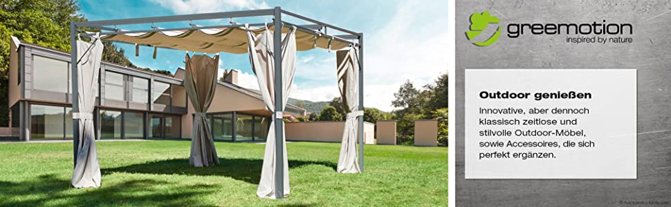 pavillon 3 4 festes dach kd67 hitoiro. Black Bedroom Furniture Sets. Home Design Ideas