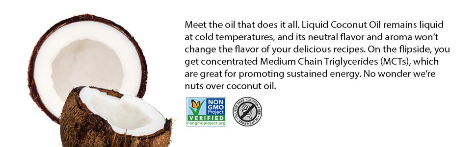 liquid coconut oil non-gmo project verified gluten free mcts