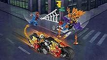 Ghost Rider Bike, Goblin Glider, and traffic light model