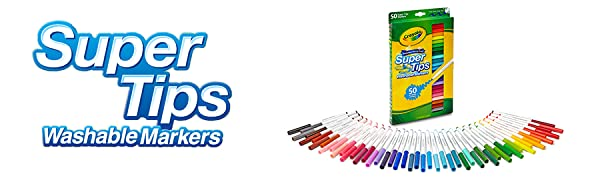 Crayola; Supertips; Markers; Coloured Markers; Textas; Colouring; Drawing; Washable Markers; Kids