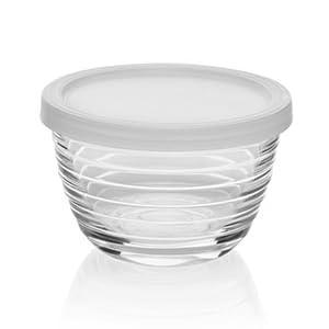Libbey libby glass glassware food prep storage bowls lids lidded small mini ingredients