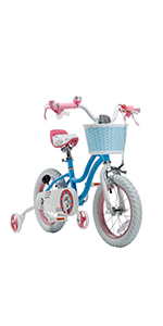 Royalbaby, Stargirl, Kids Bike, Bicycle, Training Wheels, Kickstand