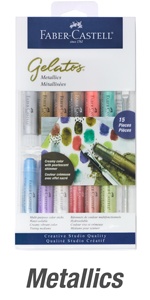 water color crayons, faber castell gelatos, gelatos, gelatos faber castell set, gelato, watercolor