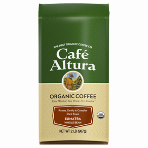Cafe Altura Organic Sumatra Roast Whole Bean Coffee