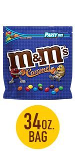 M&M'S Caramel Chocolate Candy Party Size Bag