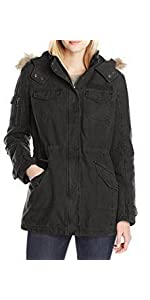 Levi's Women's Parka With Heavy Faux-Fur Hood