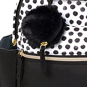 Diaper Bags Diaper Totes Carters All Together Diaper Bag Backpack with Changing Pad Black/White Dot