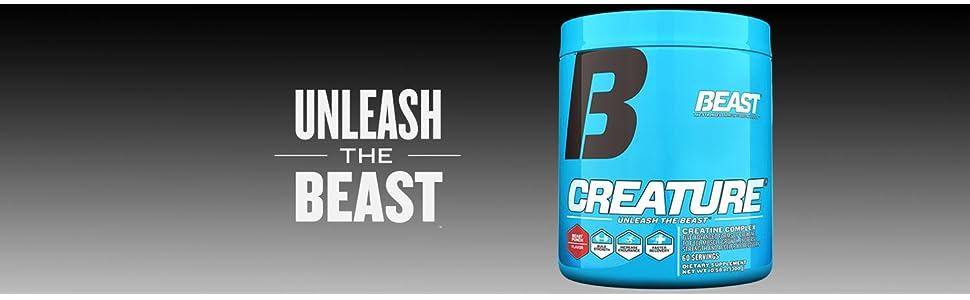 creatine, creature, beast, beast creature, beast creatine, pre-workout, workout
