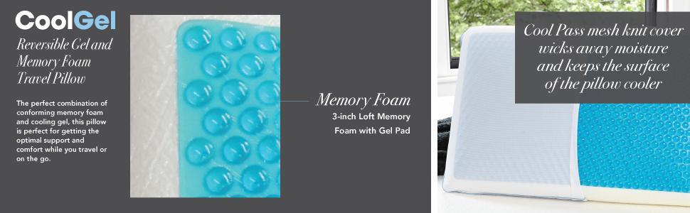 classic brands cool gel and memory foam reversible pillow