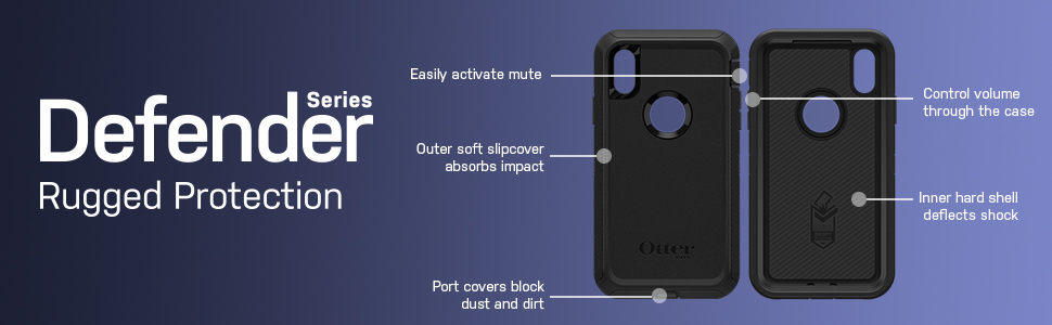 Otterbox Defender Iphone Xr Black 7759761 Amazon Ca Cell Phones