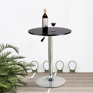 Great Modern Round Adjustable Bar Table