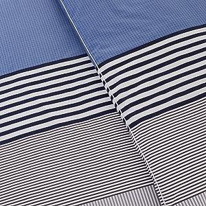 meribel lacoste crocodile stripe colorblock blue black white cotton