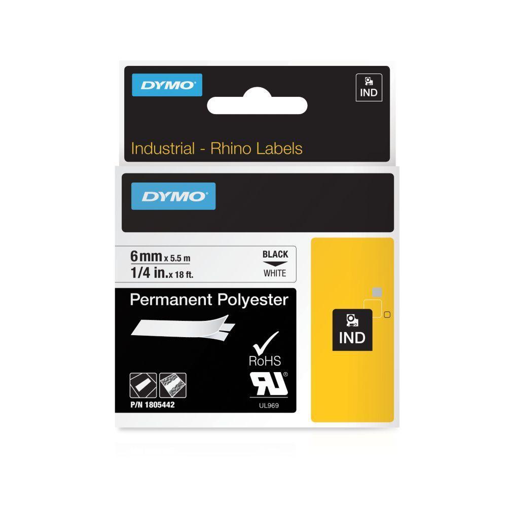 Schriftband schwarz auf weiß 19mm// 3,5m für Rhino 4200//5000//5200//6000//