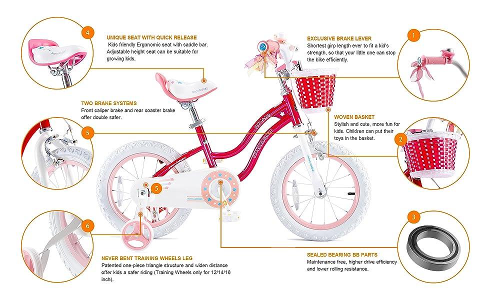 RoyalBaby Stargirl Girl's Bike Features: