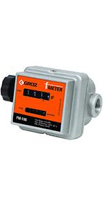 3//4-inch NPT 32 GPM Digital Fuel Meter 150 PSI GROZ 45661 Manual Fuel Control Nozzle
