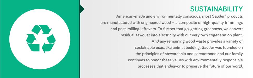 Amazon.com: Sauder Harbor View Esquina Entretenimiento ...