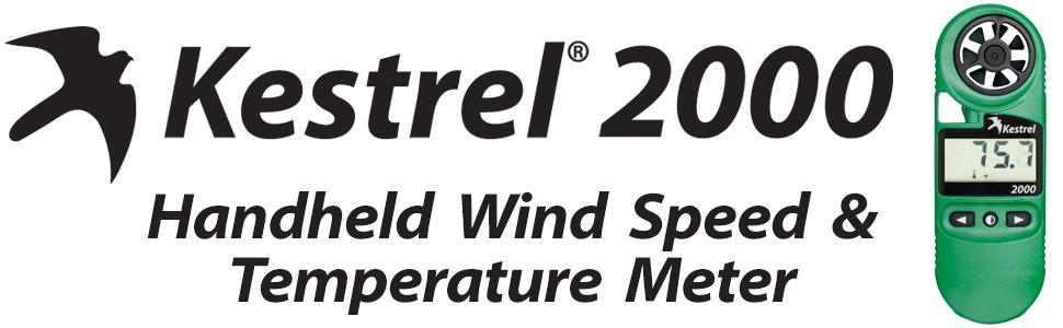 Kestrel 2000 handheld wind speed and temperature meter