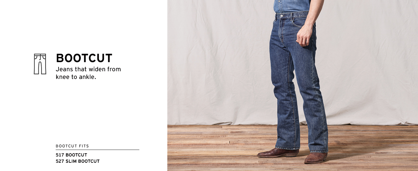 Bootcut: widest at the ankle