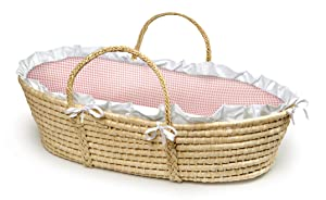 Badger Basket Baby Moses Basket with Liner and Pad