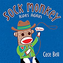 sock monkey; adventure; picture books; funny kids books; cowboy; humorous kids books; funny books