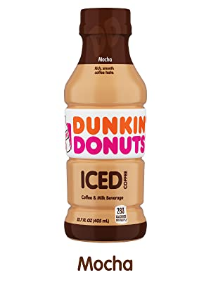 Amazon.com : Dunkin Donuts Iced Coffee, Mocha, 13.7 Fluid Ounce (Pack of 12) : Grocery & Gourmet ...