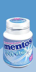 Mentos; Gum; chewing; sweet mint; mint; pack; sugar-free; xylitol; fresh; white; pure fresh; gum;