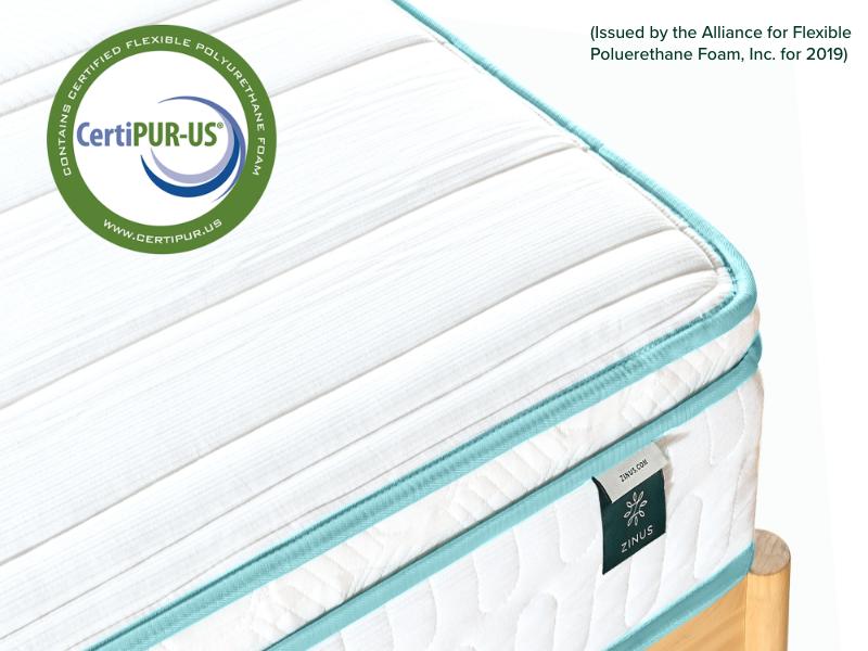 mattress side view certipu us certified