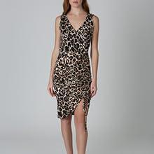 knit sleeveless short little black dress scoop neck slim modern women contemporary fashion dress