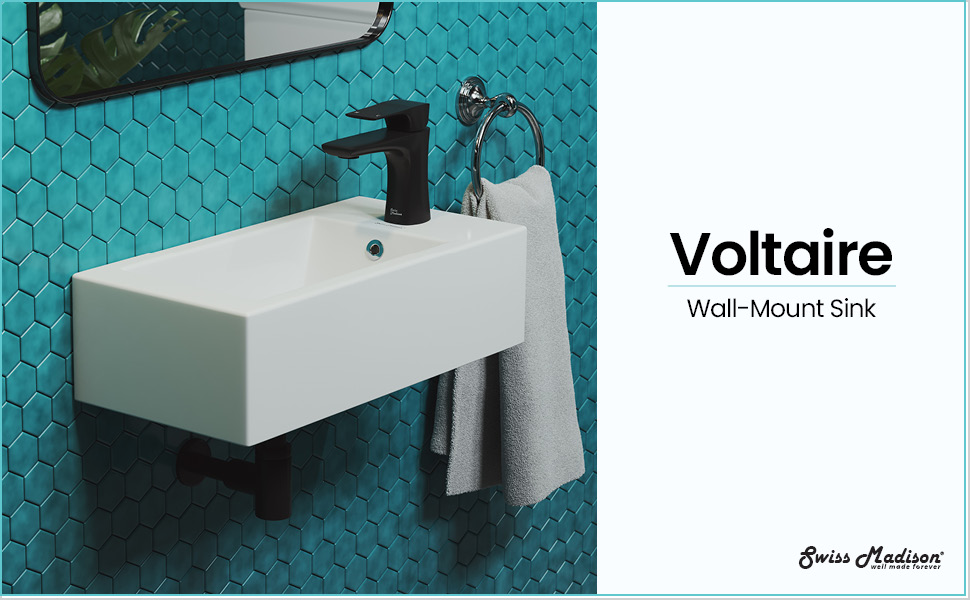swiss madison well made forever sm ws316 voltaire wall hung sink glossy white