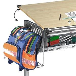Idimex mario h henverstellbarer kinderschreibtisch metall for Schreibtischplatte buche