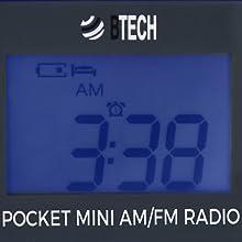 backlit display lcd portable fm radio