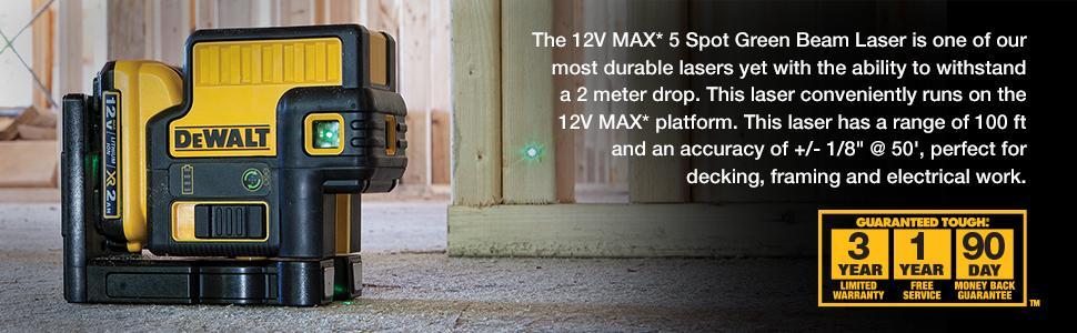 DEWALT DW085LG 12V 5 Spot Green Laser - - Amazon.com