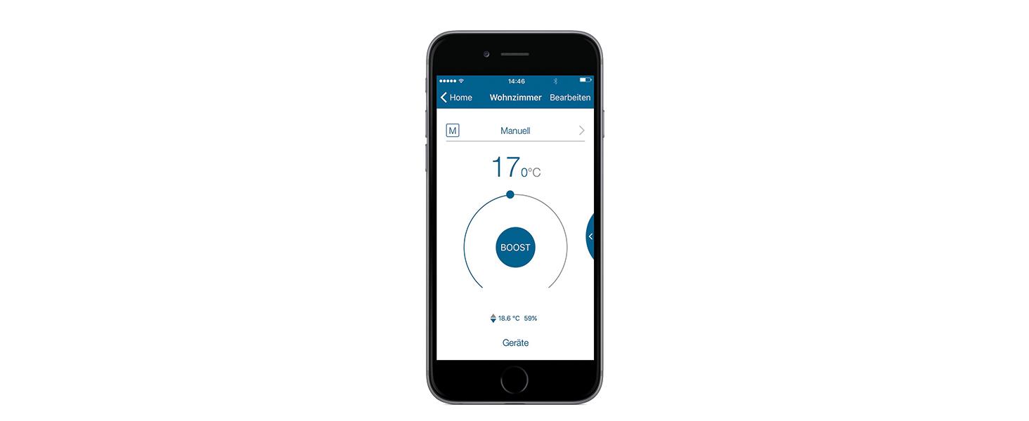 Homematic IP Smart Home Wandthermostat mit