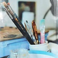 art, paint, brushes, paintbrushes, color, gratitude