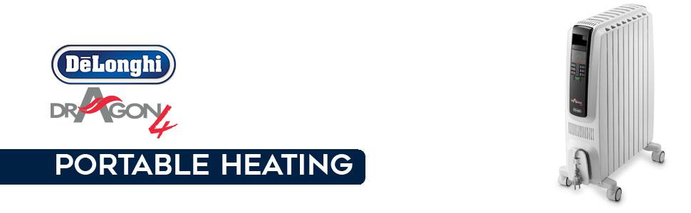 oil heaters; portable heaters; heaters delonghi