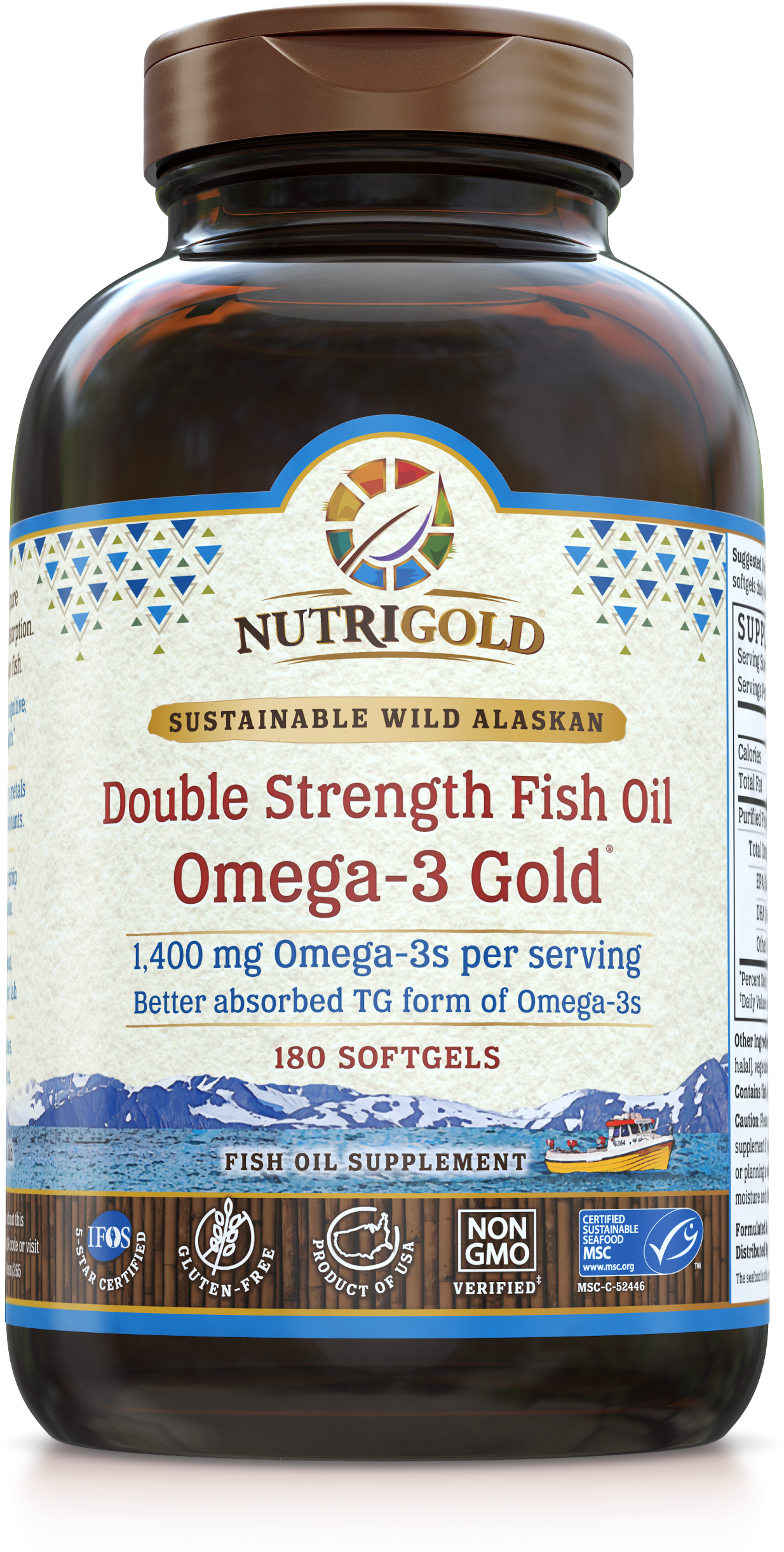 Omega 3 fish oil capsules double strength for Triglyceride fish oil