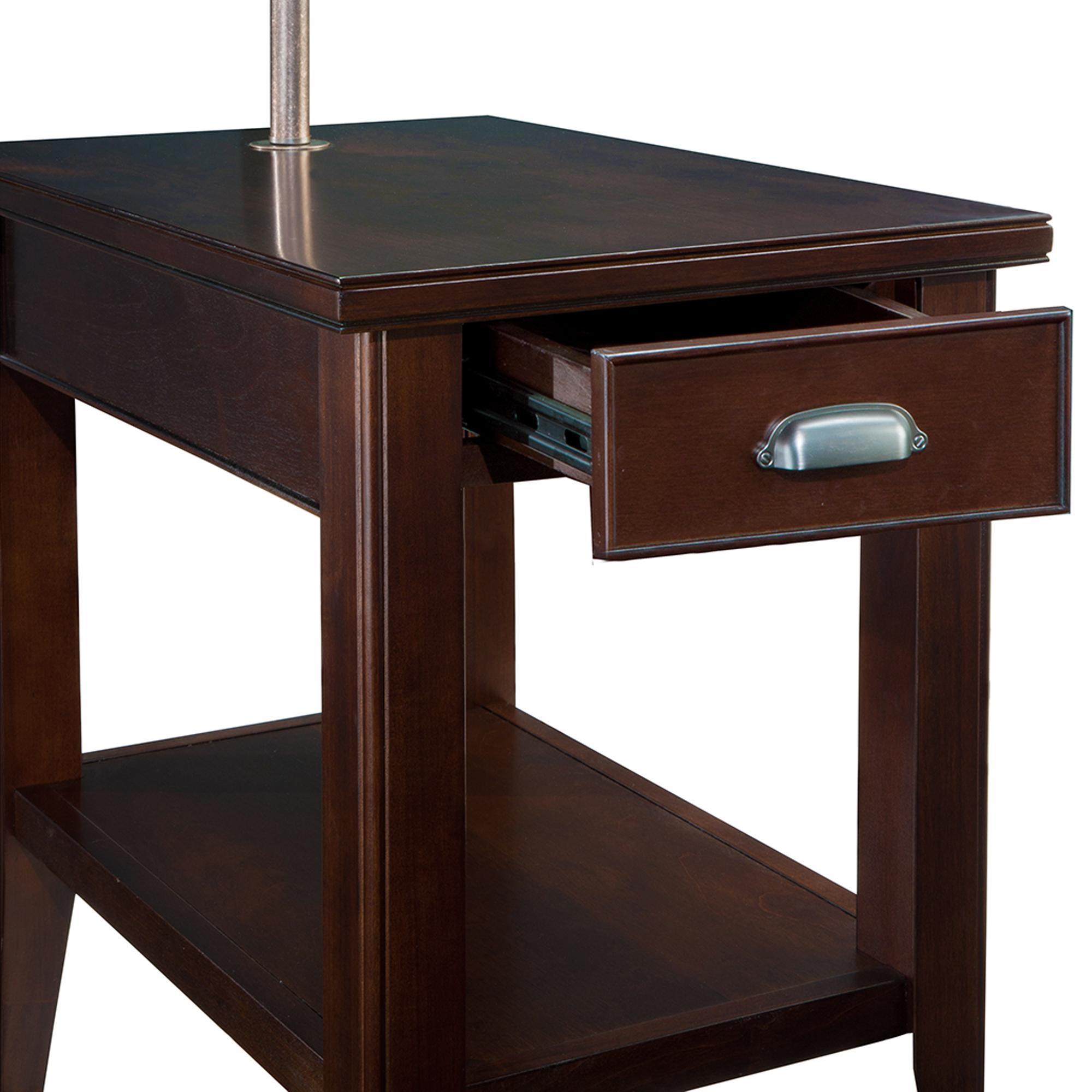 Amazon Com Leick 10537 Laurent Chairside Lamp Table
