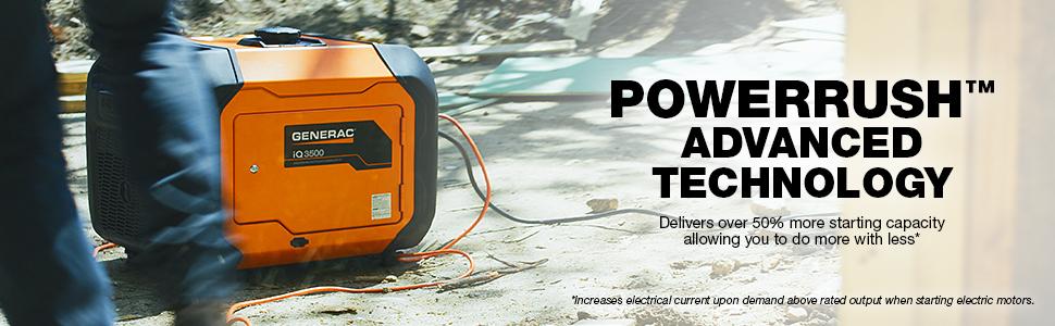 Powerrush, Powerrush technology, iQ3500, power, inverter, inverter generator, iq, 3500