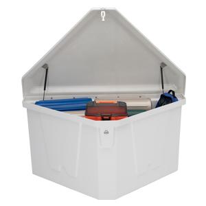 triangle dock box