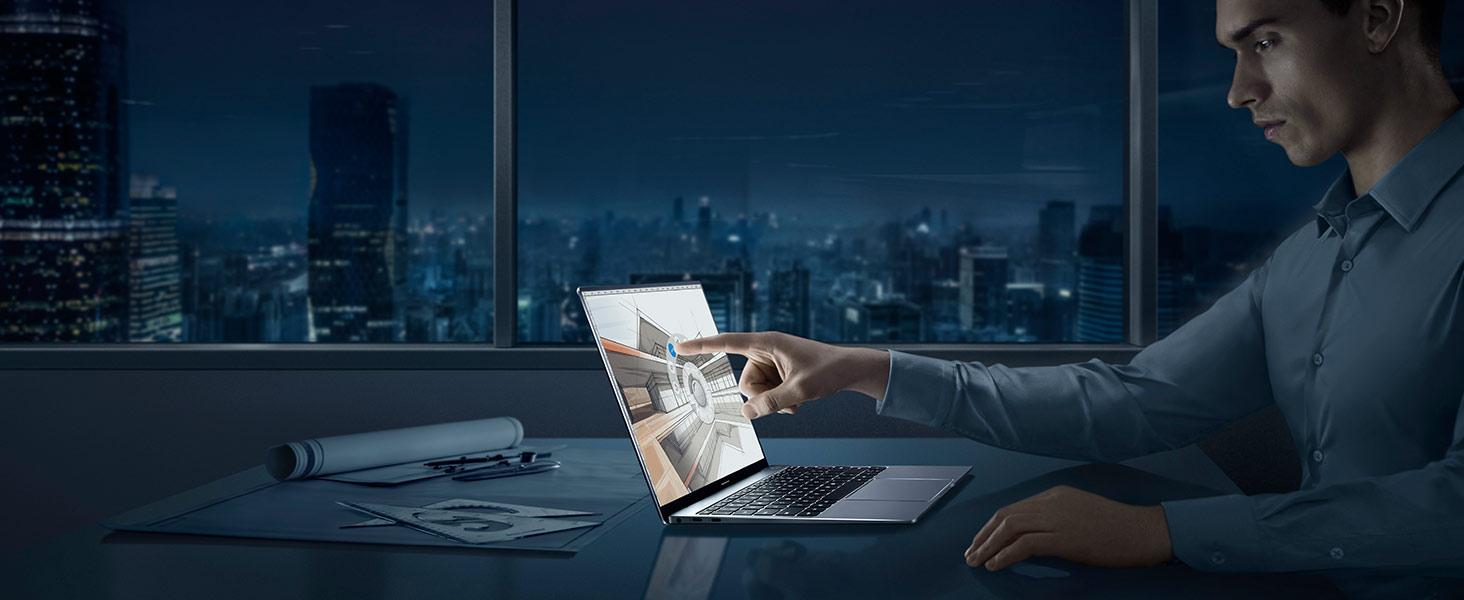 im dunkeln Nachtmodus einschalten und mit Touchscreen arbeiten