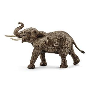 african elephant, elephant, elephant figurine, schleich elephant, schleich animal figurine, toy,toys