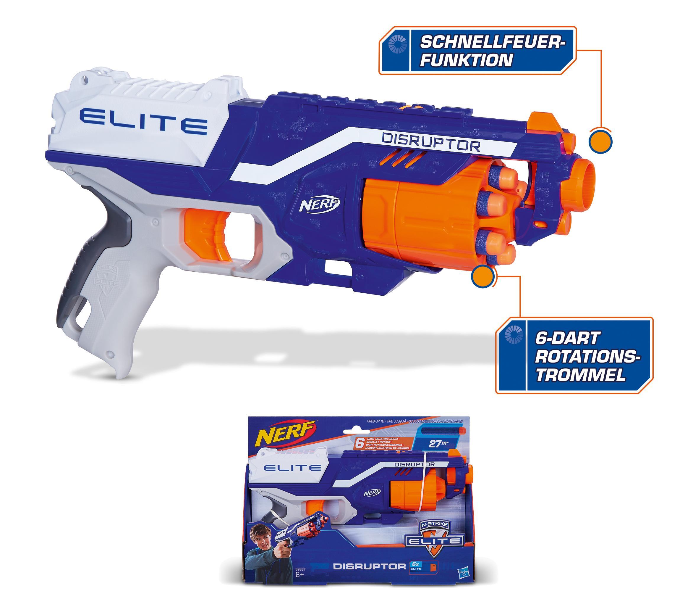 Hasbro Nerf B9837EU4 - N-Strike Elite Disruptor, Spielzeugblaster: Amazon.de: Spielzeug