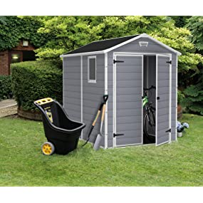 keter outdoor patio back yard storage sheds manor shed 6x8