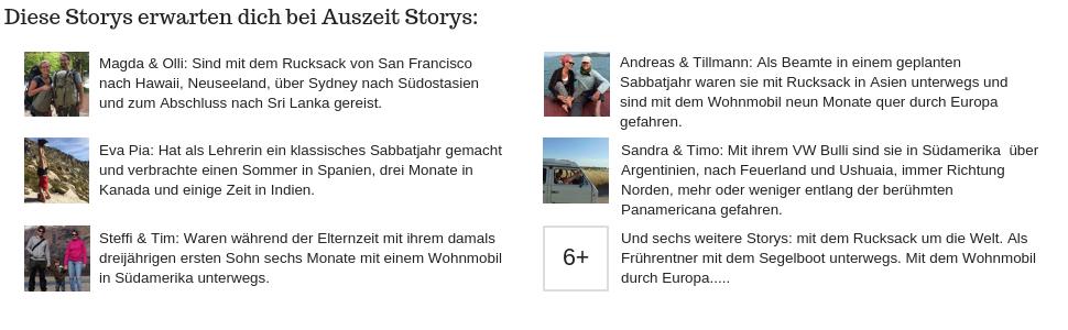 Auszeit Storys