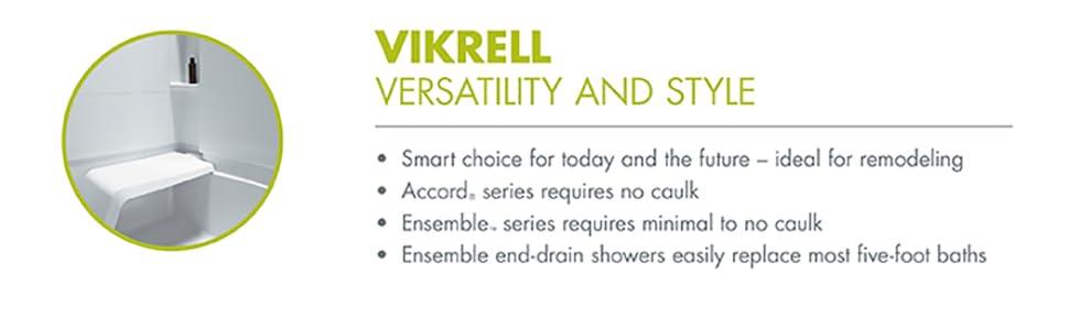 versatile, remodel, shower, tub, vikrell, kohler, sterling