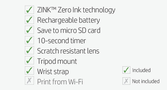 micro SD card timer scratch resistant lens tripod mount wrist strap portability