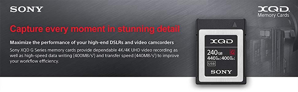 QD-G120F Sony Professional XQD G-Series 120GB Memory Card 2 Items Bundled XQD USB 3.0 Reader