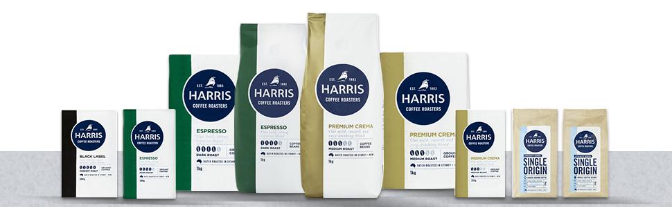 Harris, harris coffee, coffee capsules, coffee machine, harris range, coffee roaster